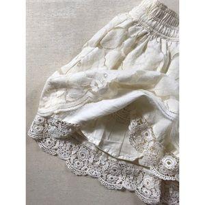 Abercrombie & Fitch Cream Lace Mini Skirt Sz M